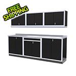 Moduline 7-Piece Aluminum Garage Cabinets (Black)