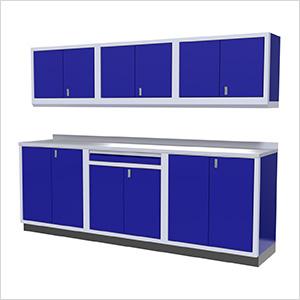 7-Piece Aluminum Garage Cabinets (Blue)