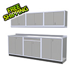 Moduline 7-Piece Aluminum Garage Cabinets (Light Grey)