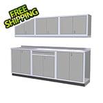 Moduline 7-Piece Aluminum Garage Cabinets (Light Grey)