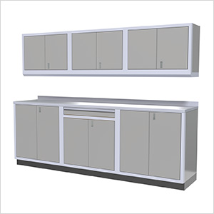 7-Piece Aluminum Garage Cabinets (Light Grey)