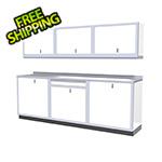 Moduline 7-Piece Aluminum Garage Cabinets (White)