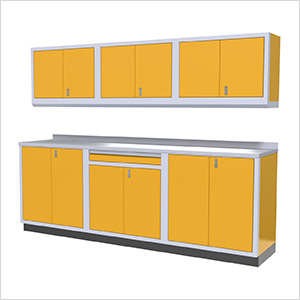 7-Piece Aluminum Garage Cabinets (Yellow)