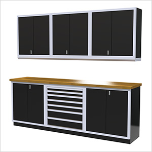 7-Piece Aluminum Cabinet Set (Black)