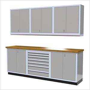 7-Piece Aluminum Cabinet Set (Light Grey)
