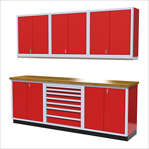 7-Piece Aluminum Cabinet Set (Red)