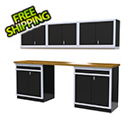 Moduline 6-Piece Aluminum Cabinet Set (Black)