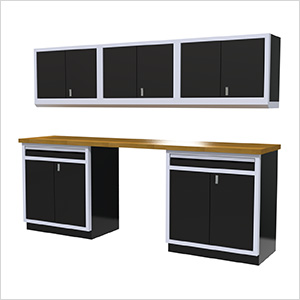 6-Piece Aluminum Cabinet Set (Black)