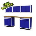 Moduline 6-Piece Aluminum Cabinet Set (Blue)