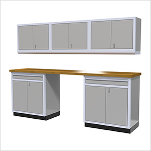 6-Piece Aluminum Cabinet Set (Light Grey)