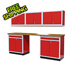 Moduline 6-Piece Aluminum Cabinet Set (Red)