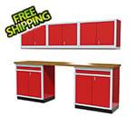 Moduline 6-Piece Aluminum Cabinet Set (Red)