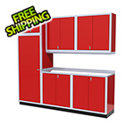 Moduline 7-Piece Aluminum Cabinet Set (Red)
