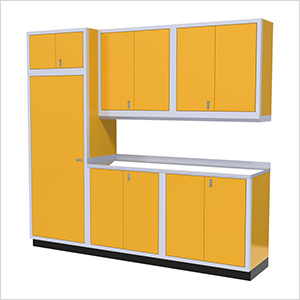 7-Piece Aluminum Cabinet Set (Yellow)
