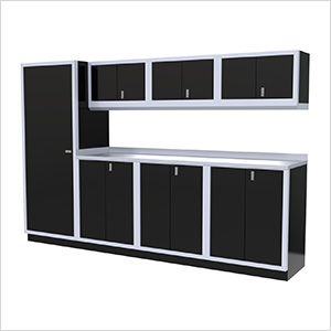 8-Piece Aluminum Cabinet Set (Black)