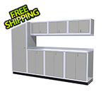 Moduline 8-Piece Aluminum Cabinet Set (Light Grey)