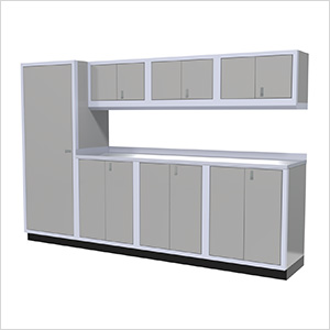 8-Piece Aluminum Cabinet Set (Light Grey)