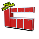 Moduline 8-Piece Aluminum Cabinet Set (Red)