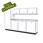 Moduline 8-Piece Aluminum Cabinet Set (White)