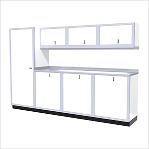 8-Piece Aluminum Cabinet Set (White)