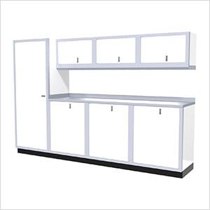 8-Piece Aluminum Cabinet Set (White)