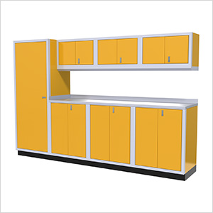 8-Piece Aluminum Cabinet Set (Yellow)