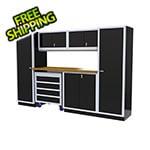 Moduline 7-Piece Aluminum Garage Cabinet Set (Black)