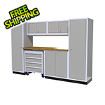 Moduline 7-Piece Aluminum Garage Cabinet Set (Light Grey)