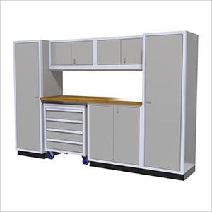 7-Piece Aluminum Garage Cabinet Set (Light Grey)