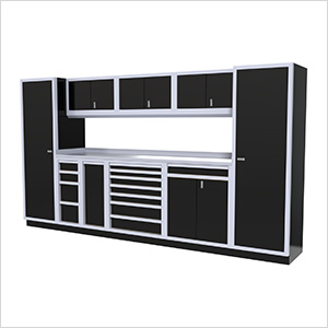 10-Piece Aluminum Cabinet Kit (Black)