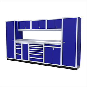 10-Piece Aluminum Cabinet Kit (Blue)