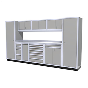 10-Piece Aluminum Cabinet Kit (Light Grey)