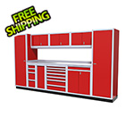Moduline 10-Piece Aluminum Cabinet Kit (Red)