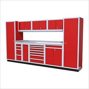 10-Piece Aluminum Cabinet Kit (Red)