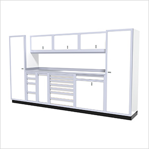 10-Piece Aluminum Cabinet Kit (White)