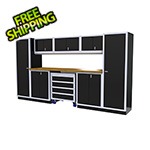 Moduline 9-Piece Aluminum Garage Cabinetry (Black)