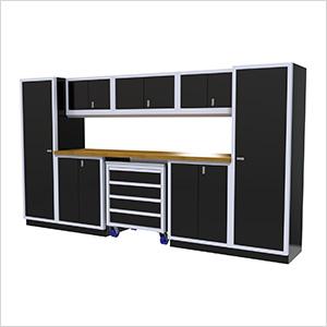 9-Piece Aluminum Garage Cabinetry (Black)