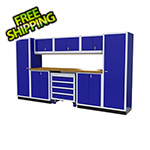 Moduline 9-Piece Aluminum Garage Cabinetry (Blue)