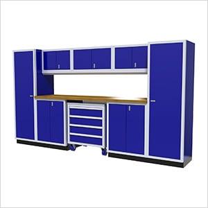9-Piece Aluminum Garage Cabinetry (Blue)