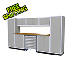 Moduline 9-Piece Aluminum Garage Cabinetry (Light Grey)