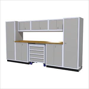 9-Piece Aluminum Garage Cabinetry (Light Grey)