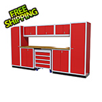 Moduline 9-Piece Aluminum Garage Cabinetry (Red)