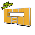 Moduline 9-Piece Aluminum Garage Cabinetry (Yellow)