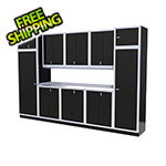 Moduline 11-Piece Aluminum Garage Storage Set (Black)