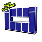 Moduline 11-Piece Aluminum Garage Storage Set (Blue)