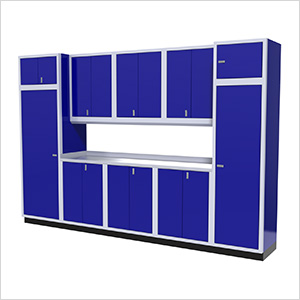 11-Piece Aluminum Garage Storage Set (Blue)