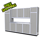 Moduline 11-Piece Aluminum Garage Storage Set (Light Grey)