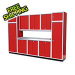 Moduline 11-Piece Aluminum Garage Storage Set (Red)