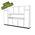 Moduline 11-Piece Aluminum Garage Storage Set (White)