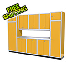 Moduline 11-Piece Aluminum Garage Storage Set (Yellow)